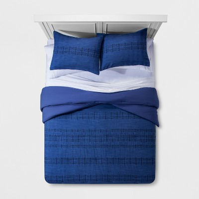 Blue Eyelet Comforter Set (King)- Threshold™