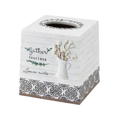 Avanti Modern Farmhouse Tissue Cover - Off-white