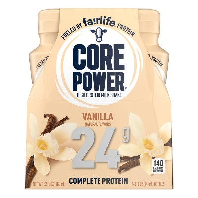 Core Power Vanilla Protein Shake - 4pk/8 fl oz Bottle