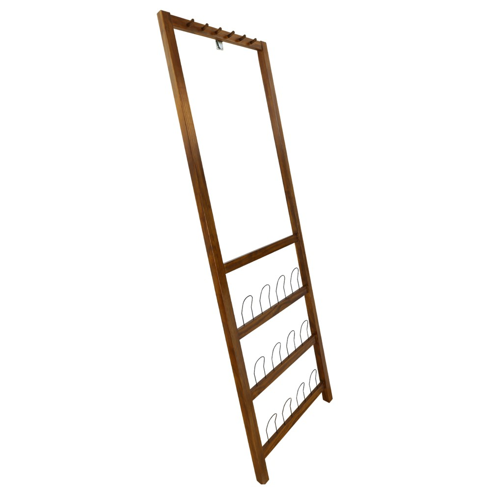 Image of Studio Leaning Coat and Shoe Rack Brown - Flora Home