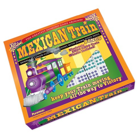 Puremco Mexican Train Double 12 Color Dot Dominoes - Professional Size Game - image 1 of 2