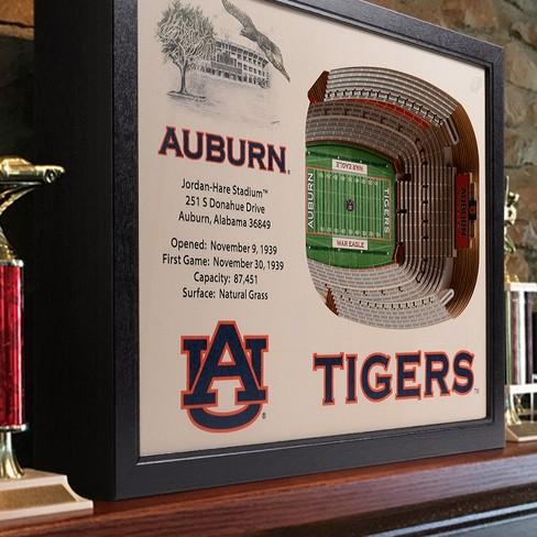 NCAA Auburn Tigers 25 Layer Stadiumviews 3D Wall Art : Target