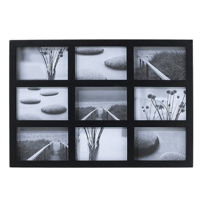 9-Opening Collage Frame Black 4 x6  - Room Essentials™