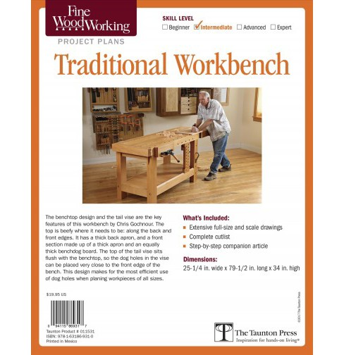 Fine Woodworking's Traditional Workbench Plan -  by Chris Gochnour (Paperback) - image 1 of 1