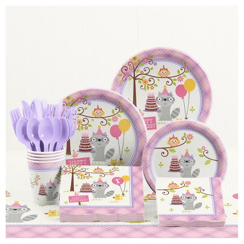 Happi Woodland Girl 1st Birthday Party Supplies Kit - image 1 of 1