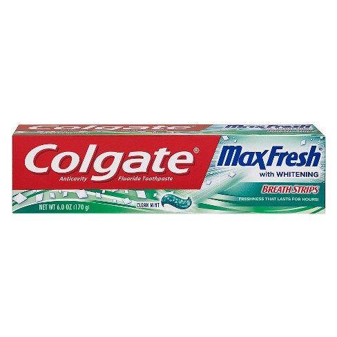 Colgate Max Fresh Toothpaste with Mini Breath Strips Clean Mint - 6oz - image 1 of 5