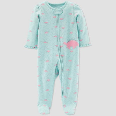 Baby Girls' Dino Sleep 'N Play One Piece Pajama - Just One You® made by carter's Green/Pink 3M