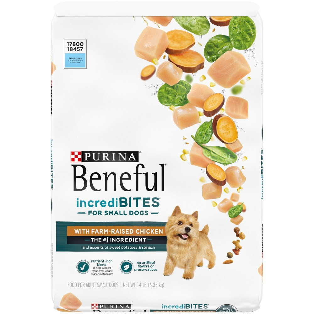 Purina Beneful Incredibites With Real Chicken Small Dog Adult Dry Dog Food 14lbs