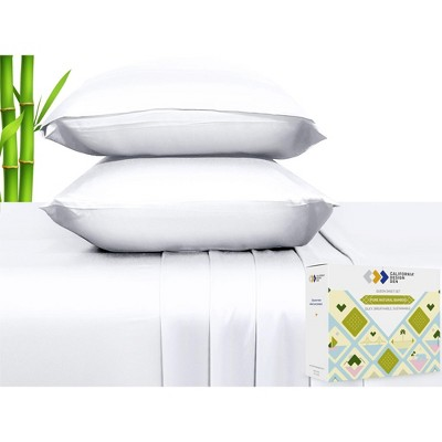 Soft Silky Cooling Sheets - Rayon from 100% Bamboo, Perfectly Fitting Sheet Set - California Design Den