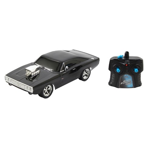 Jada Toys Fast & Furious RC 1970 Dodge Charger R/T Remote Control Vehicle 1:16 Scale Glossy Black - image 1 of 4