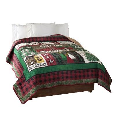 Lakeside Vintage Christmas Quilt – Farmhouse Style Bedding