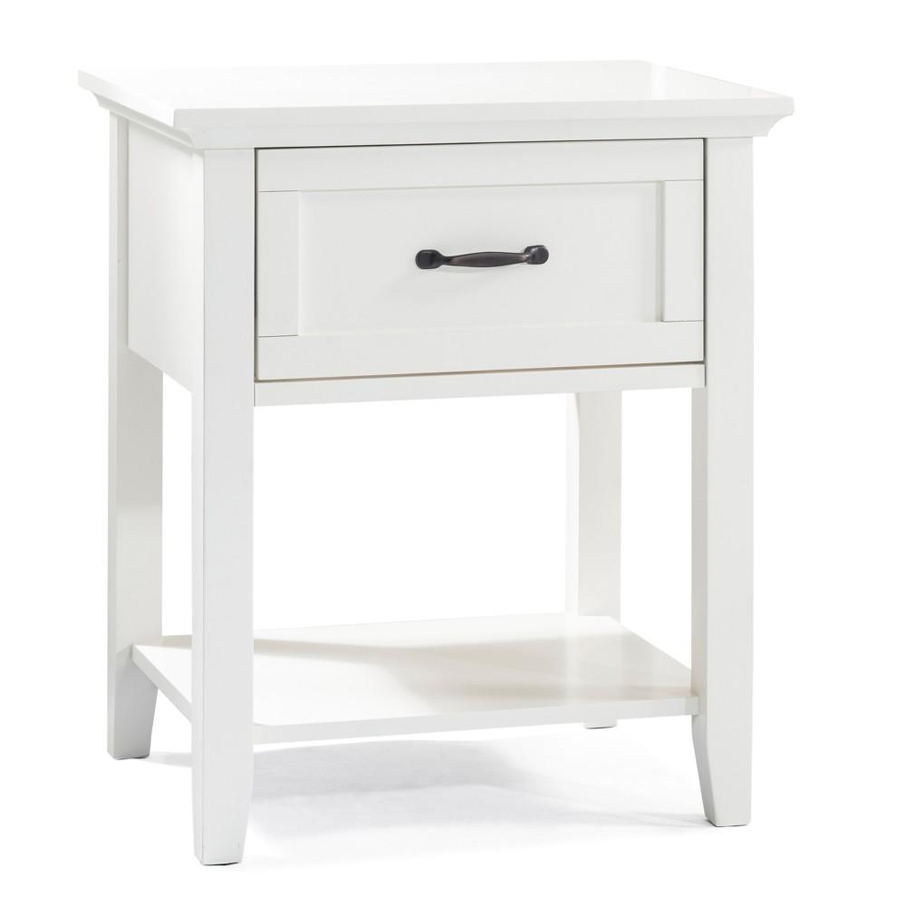 Avon 1 Drawer Nightstand French White - John Boyd Designs