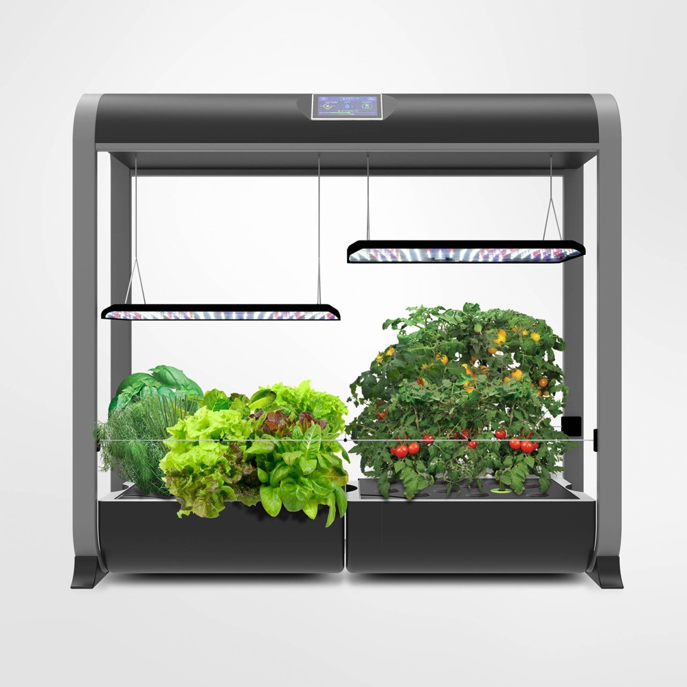 Image of AeroGarden Farm Plus With Salad Bar Seed Kit Black