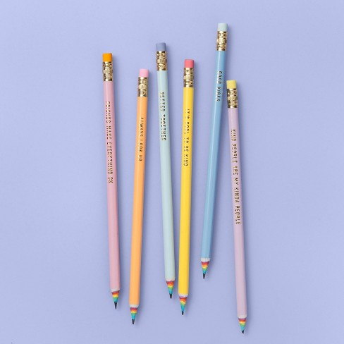 More Than Magic™ 6pk Rainbow Wood Pencils with Cloud Case - image 1 of 2
