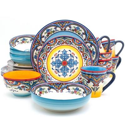 20pc Stoneware Zanzibar Dinnerware Set - Euro Ceramica