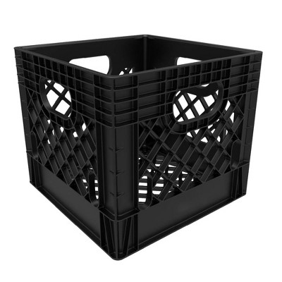 16qt Industrial Milk Crate Black - Rehrig Pacific Company