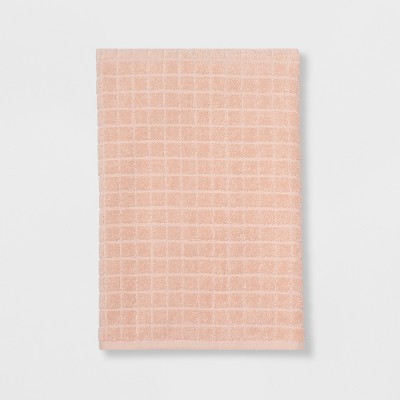 Everyday Grid Bath Towel Peach - Room Essentials™