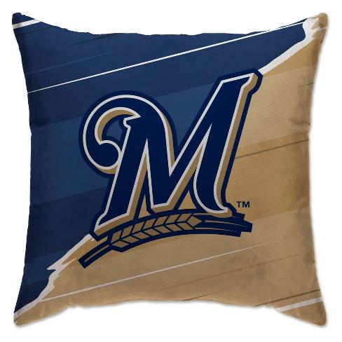 MLB Milwaukee Brewers Split Throw Pillow - image 1 of 1
