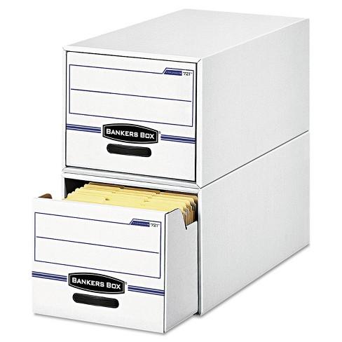 Bankers Box STOR/DRAWER File Drawer Storage Box Letter White/Blue 6/Carton 00721 - image 1 of 2
