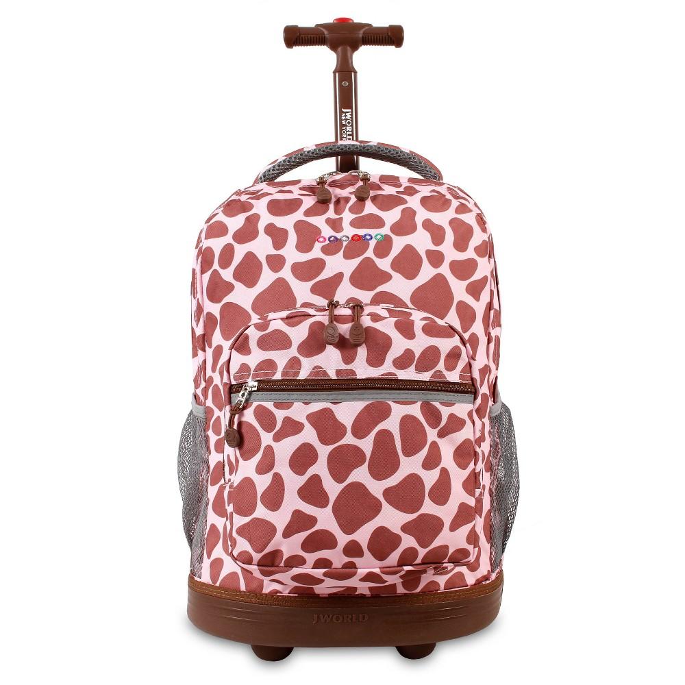 J World 18 Sunrise Rolling Backpack Pink Zulu