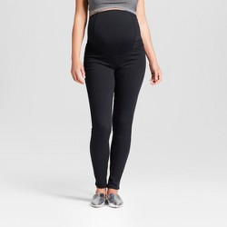 Maternity Crossover Panel Skinny Jeans - Isabel Maternity by Ingrid & Isabel™ Black
