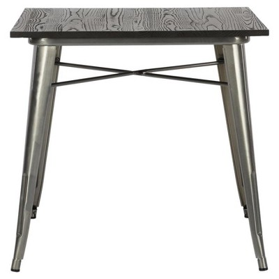 Fiora Square Metal Dining Table with Wood Top - Dorel Home Products