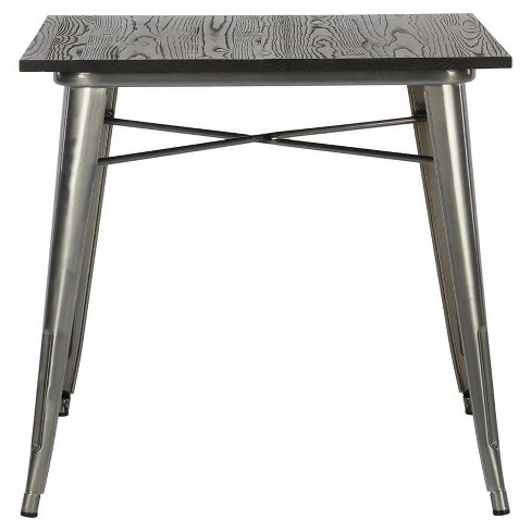 Fusion Square Dining Table Antique Gun Metal Dorel Home Products