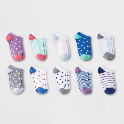 Girls' 10pk Lightweight No Show Socks - Cat & Jack™