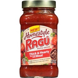 Ragu Homestyle Thick & Hearty Flavored with Meat Pasta Sauce - 23oz