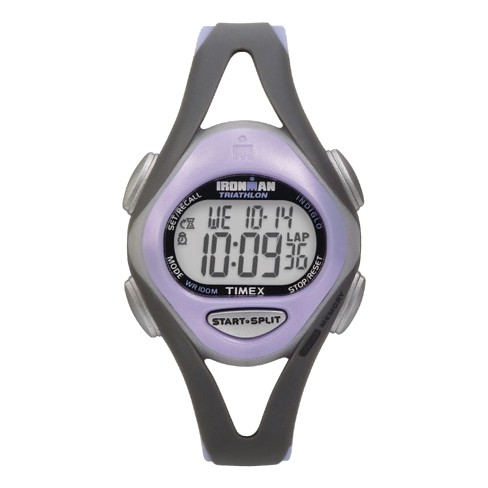 Women's Timex Ironman® Sleek 50 Lap Digital Watch - Gray/Purple T5E511JT - image 1 of 1