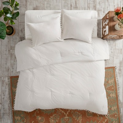 3pc Full/Queen Sula Cotton Comforter Set White