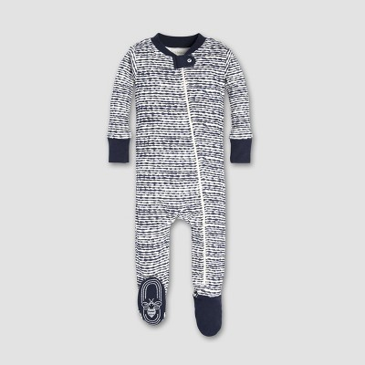 Burt's Bees Baby® Baby Boys' Brush Strokes Sleeper - Midnight 0-3M