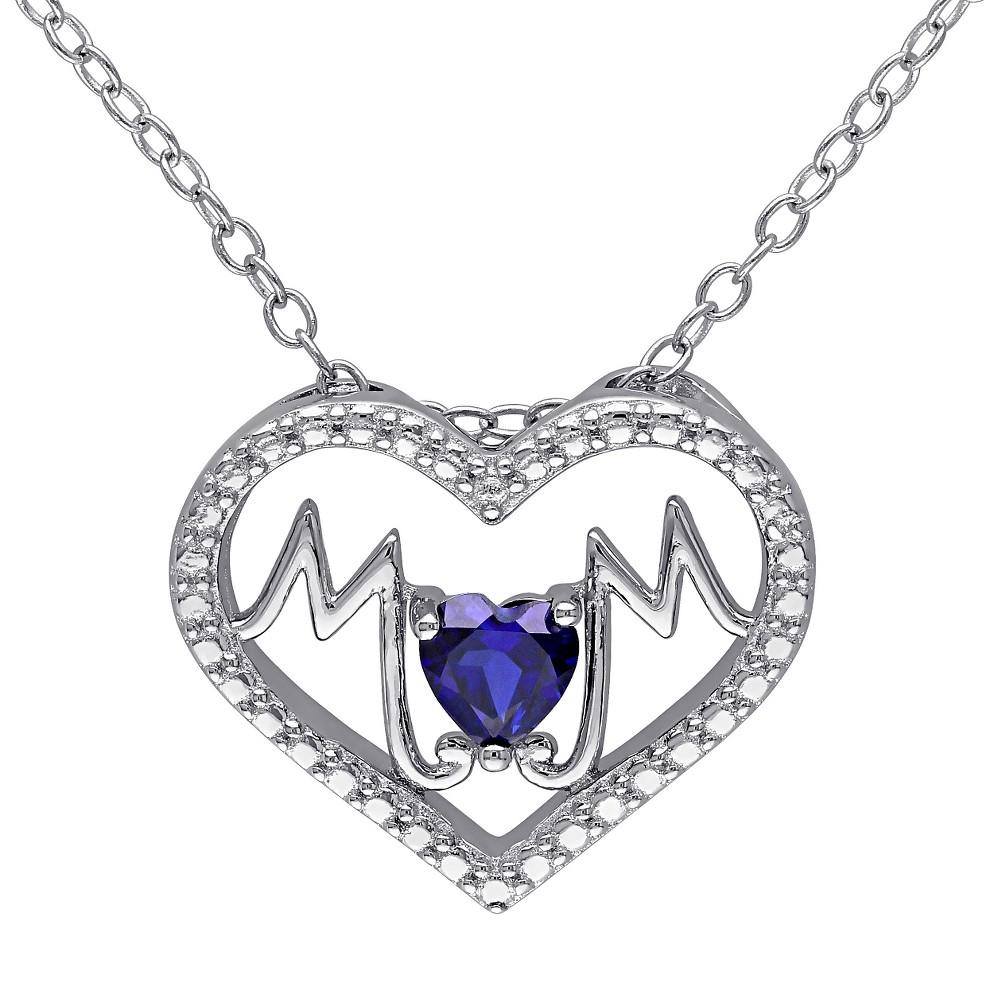 1/4 CT. T.W. Heart Shape Simulated Sapphire Heart