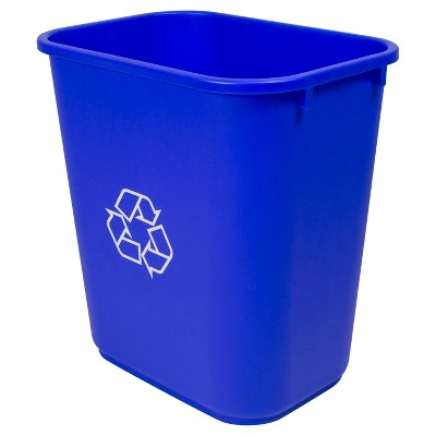 No-lid Trash Can Blue - Case of 6 Storex
