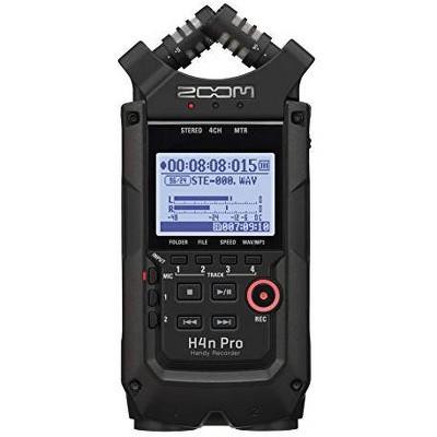 Zoom H4n Pro Black 4-Track Portable Audio Recorder (2020 Model)