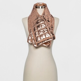 Womens Puffer Wrap Scarf - Wild Fable™ Gold