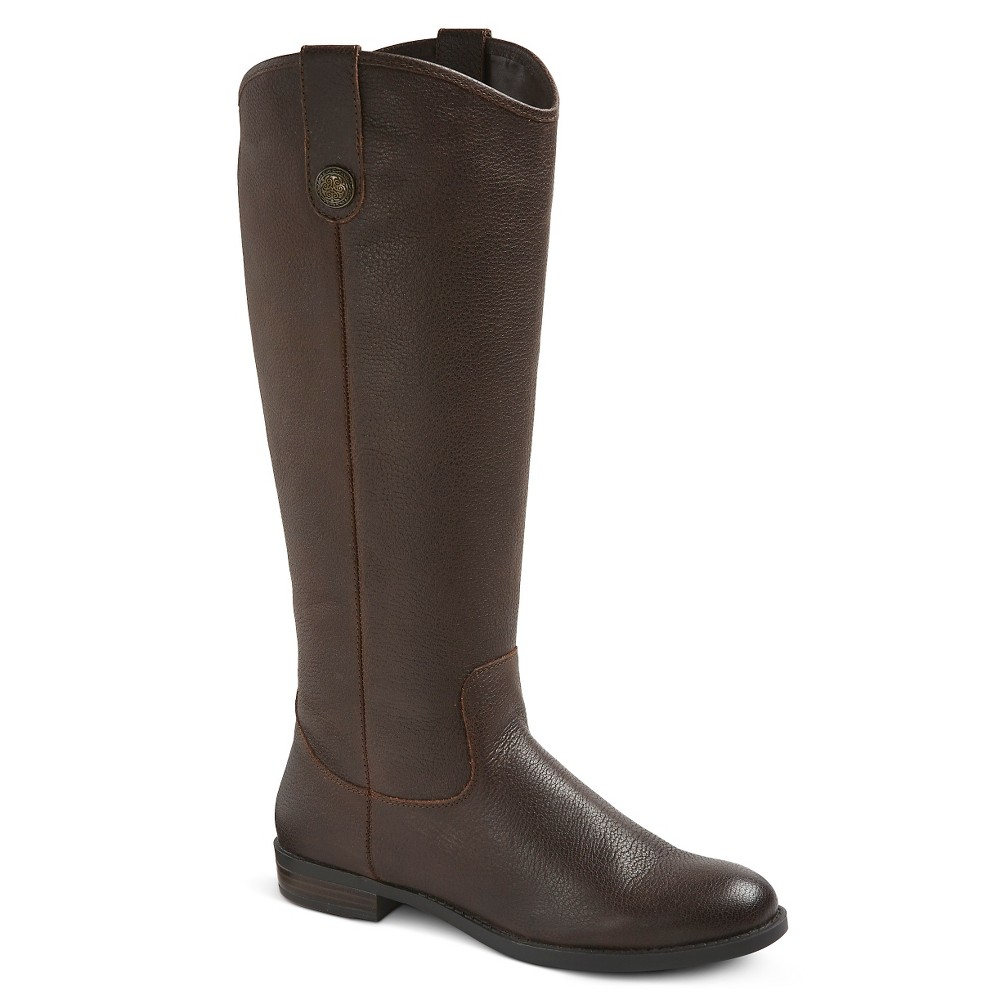Women S Kasia Leather Riding Boots Brown 11 Merona 8482