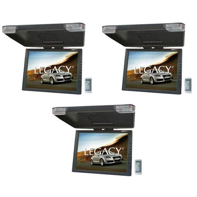 """Legacy 15"""" LCD TFT Car/SUV/TRUCK Flip Down Roof Mount Monitor TV IR (3 Pack)"""