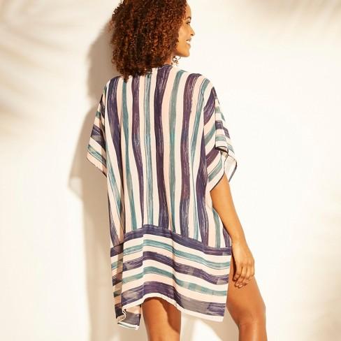 6dcd9f8777f0 Women's Open Front Kimono Cover Up - Kona Sol™ Multi Stripe : Target