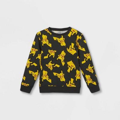 Kids' Pokemon Pika Pullover Sweatshirt - Gray