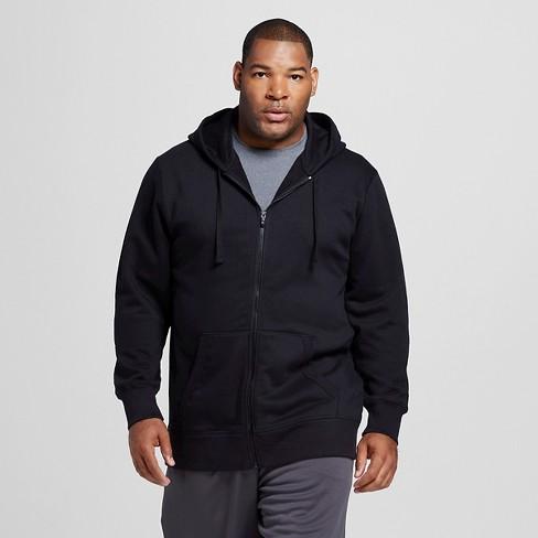 Men's Tall Sizes Fleece Full Zip Hoodies - C9 Champion® Black 2XLT - image 1 of 2