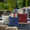 2pk Canvas Texture Square Outdoor Throw Pillows - Arden Selections - image 3 of 4