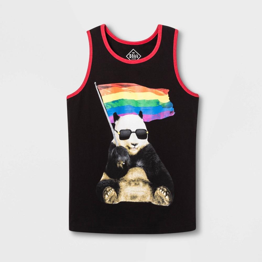 Pride Adult Panda Flag Gender Inclusive Tank Top - Black XS, Men's