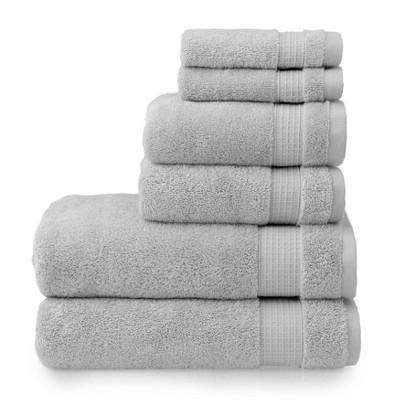 6pc Noah Bath Towel Set Gray - Martha Stewart
