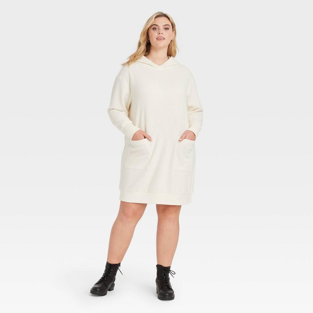 Women 39 S Plus Size Long Sleeve Dress Who What Wear 8482 Cream 1x