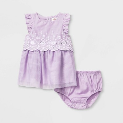 Baby Girls' Eyelet Tutu Dress - Cat & Jack™ Purple 3-6M