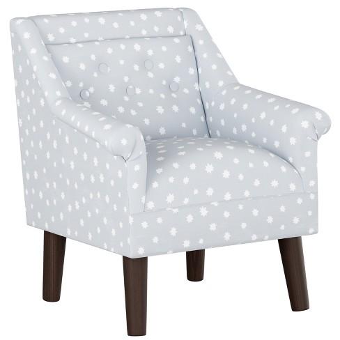 Tremendous Kids Button Tufted Modern Chair Gray Stars With Espresso Legs Pillowfort Creativecarmelina Interior Chair Design Creativecarmelinacom