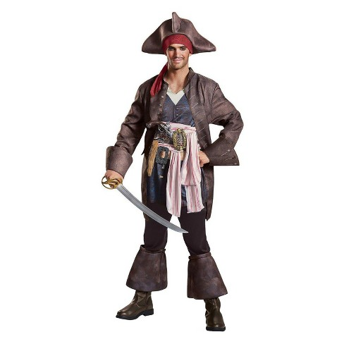 Men's Pirates of the Caribbean Captain Jack Deluxe Adult Costume Kit - image 1 of 1