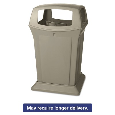 Rubbermaid Commercial Ranger Fire-Safe Container Square Structural Foam 45 gal Beige 917388BEI