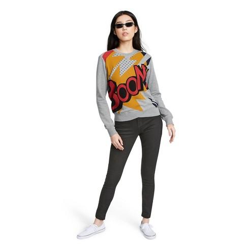 Women's Boom Graphic Long Sleeve Round Neck Sweatshirt - 3.1 Phillip Lim for Target Gray - image 1 of 4